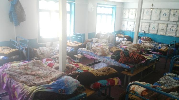 Jirgital'de iki gün beklediğimiz otel :)
